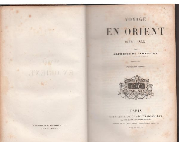 Voyage en Orient (1832-1833)