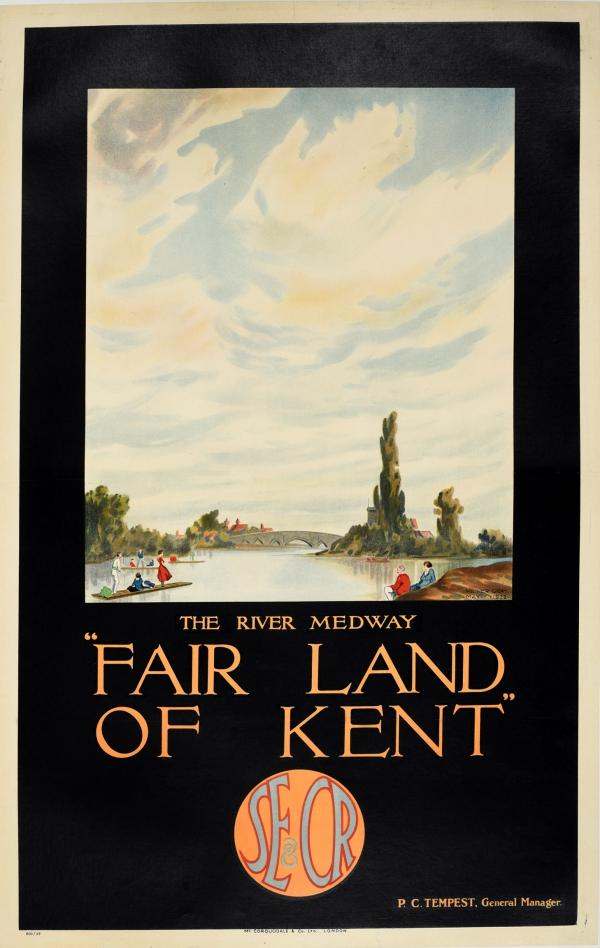 Fair Land of Kent River Medway South Eastern Chatham Railway