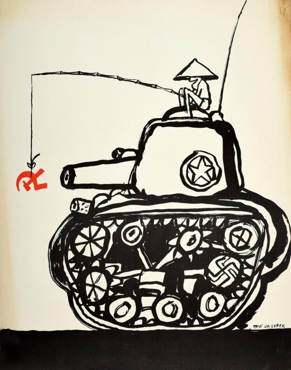 Vietnam War Hammer And Sickle Tank Tomi Ungerer